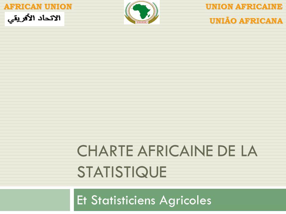 CHARTE AFRICAINE DE LA STATISTIQUE