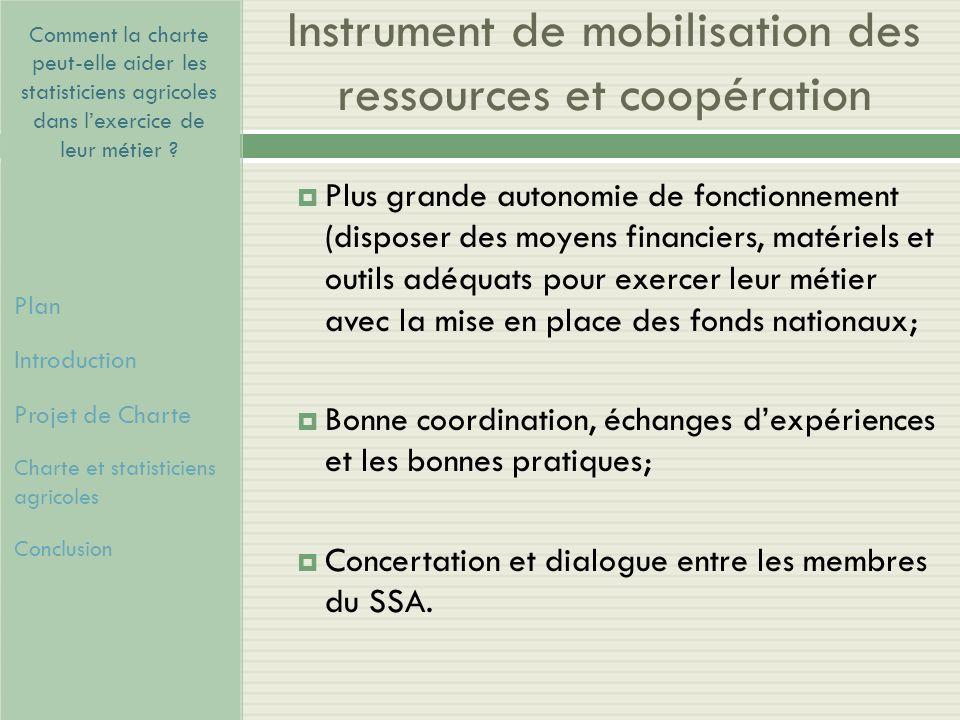 Instrument de mobilisation des ressources et coopération