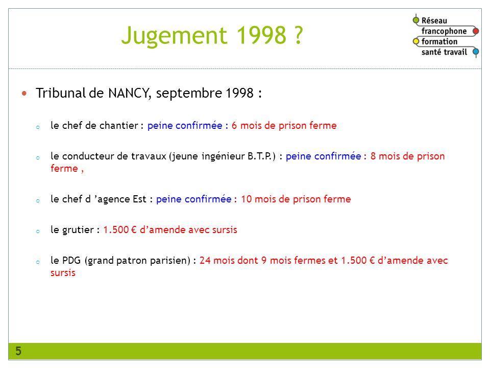 Jugement 1998 Tribunal de NANCY, septembre 1998 :