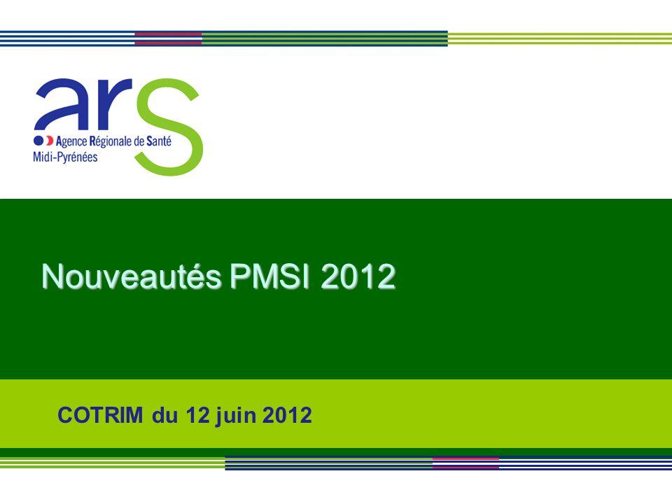 Nouveautés PMSI 2012 COTRIM du 12 juin 2012