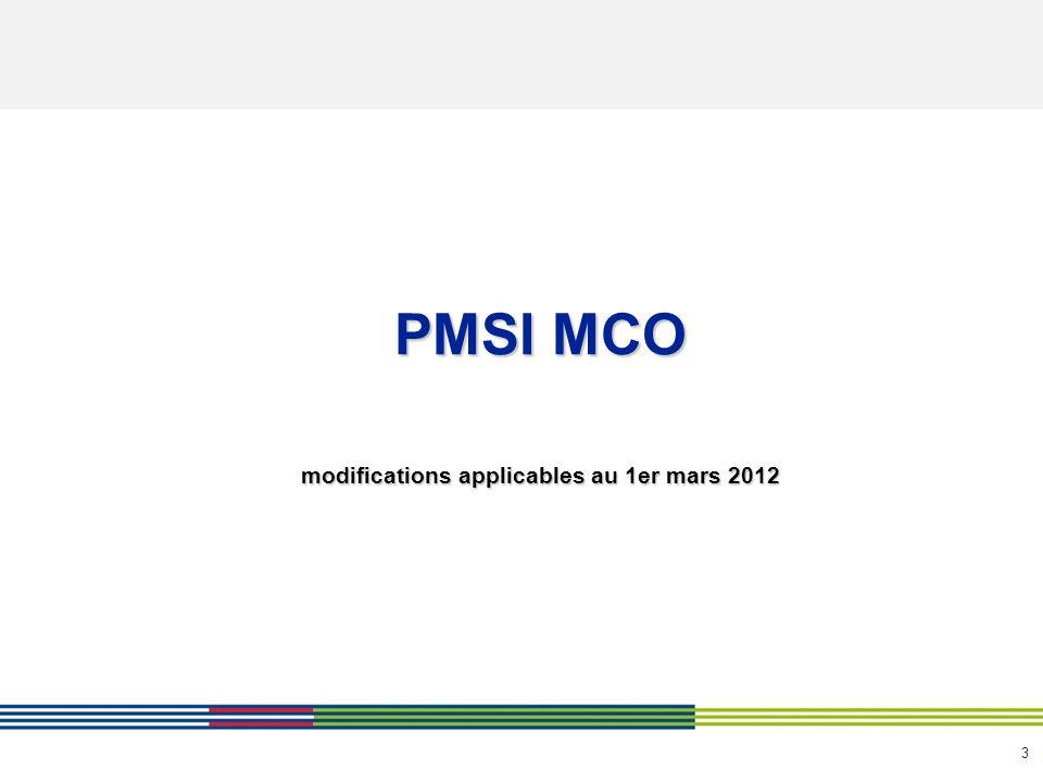 modifications applicables au 1er mars 2012