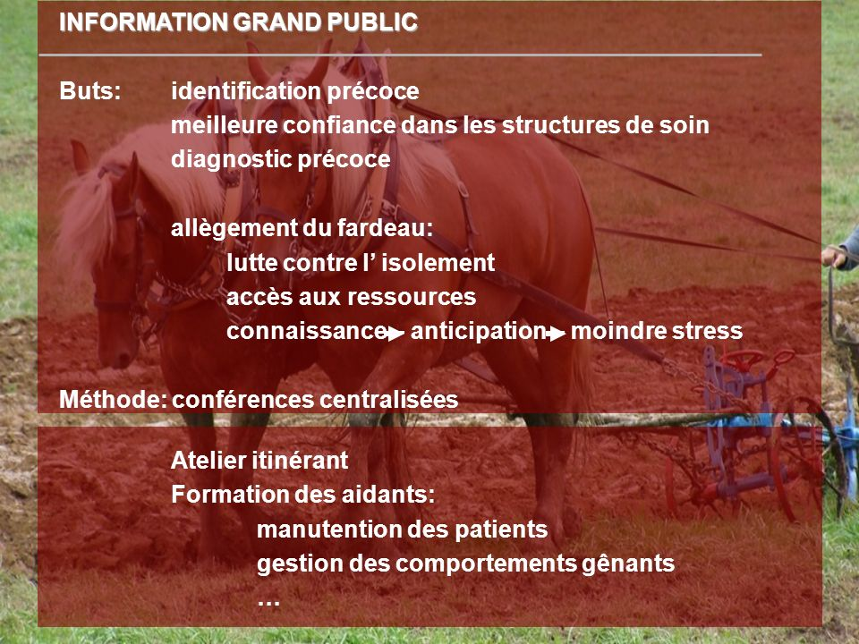 INFORMATION GRAND PUBLIC