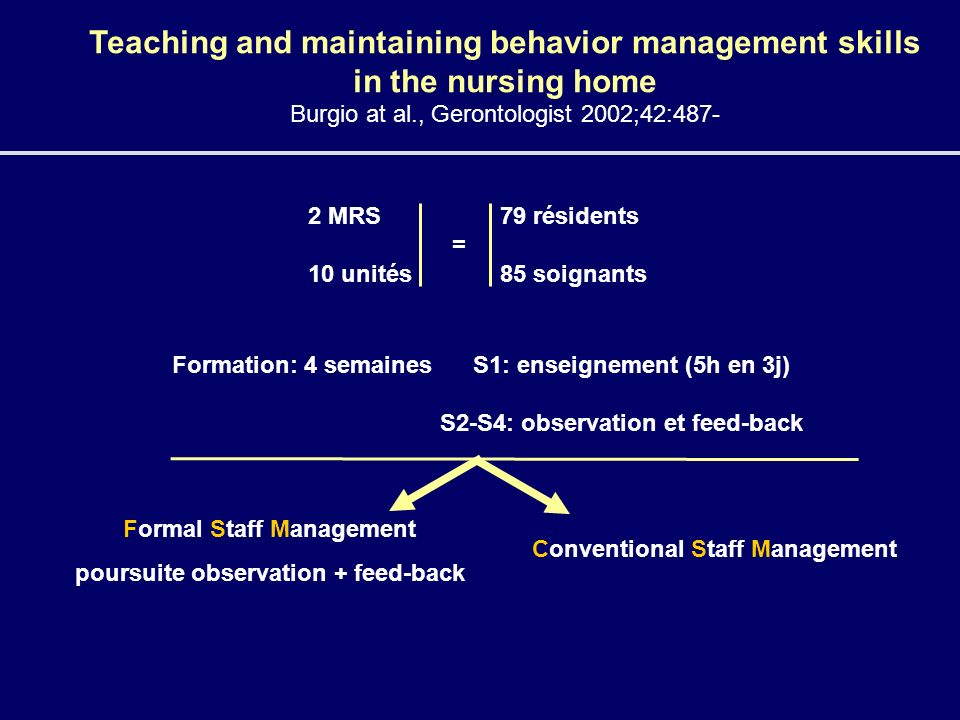 Formal Staff Management poursuite observation + feed-back