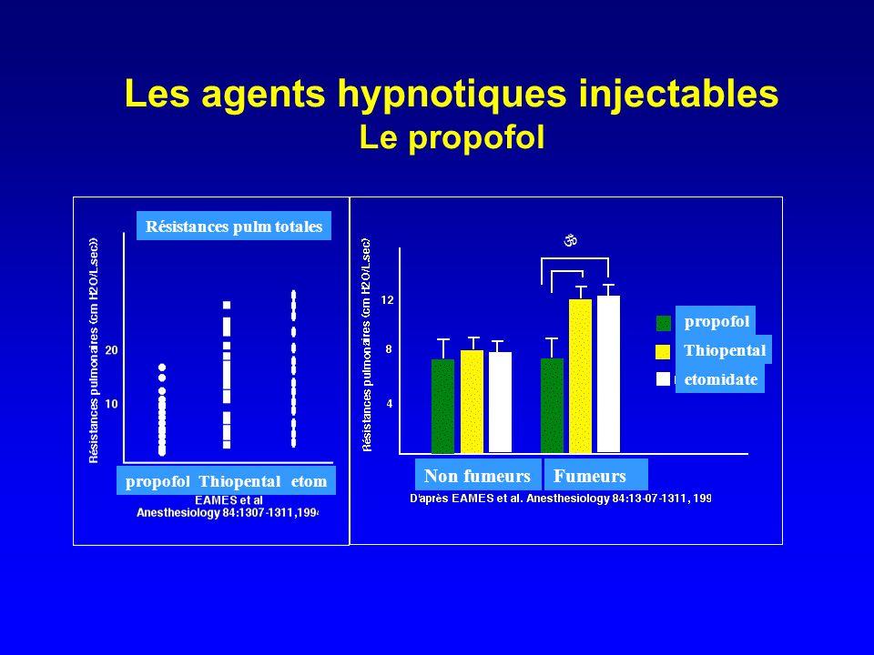 Les agents hypnotiques injectables Le propofol