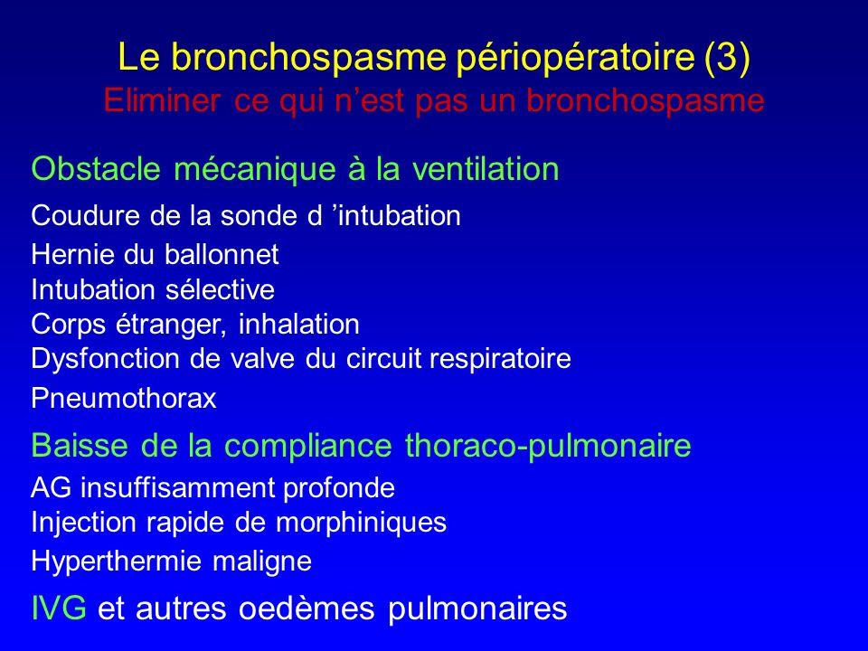Le bronchospasme périopératoire (3) Eliminer ce qui n'est pas un bronchospasme
