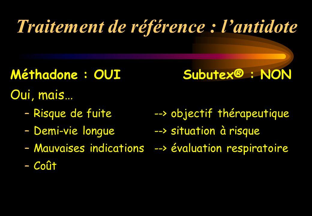 Traitement de référence : l'antidote