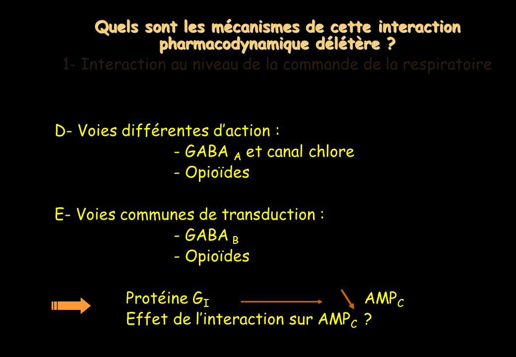 1- Interaction au niveau de la commande de la respiratoire