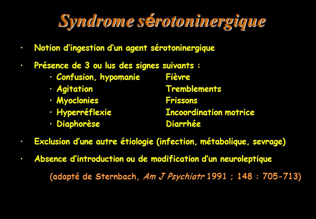 Syndrome sérotoninergique