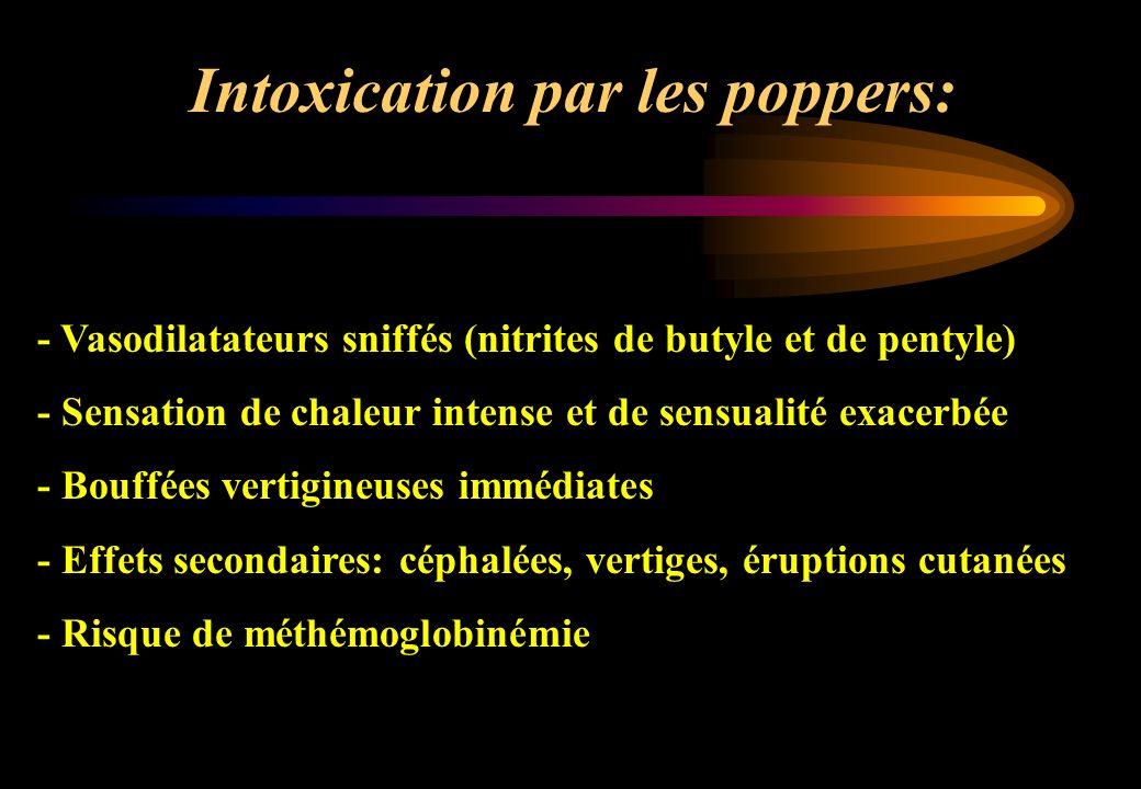 Intoxication par les poppers: