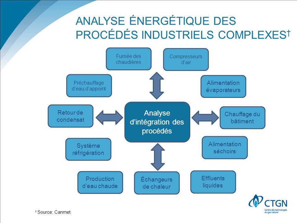 Analyse énergétique des procédés industriels complexes†