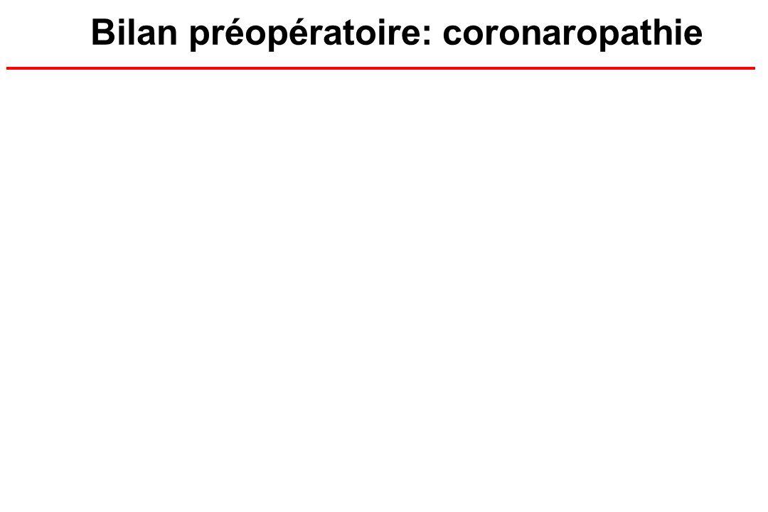 Bilan préopératoire: coronaropathie