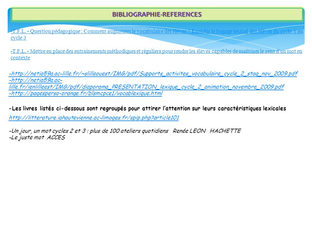 BIBLIOGRAPHIE-REFERENCES