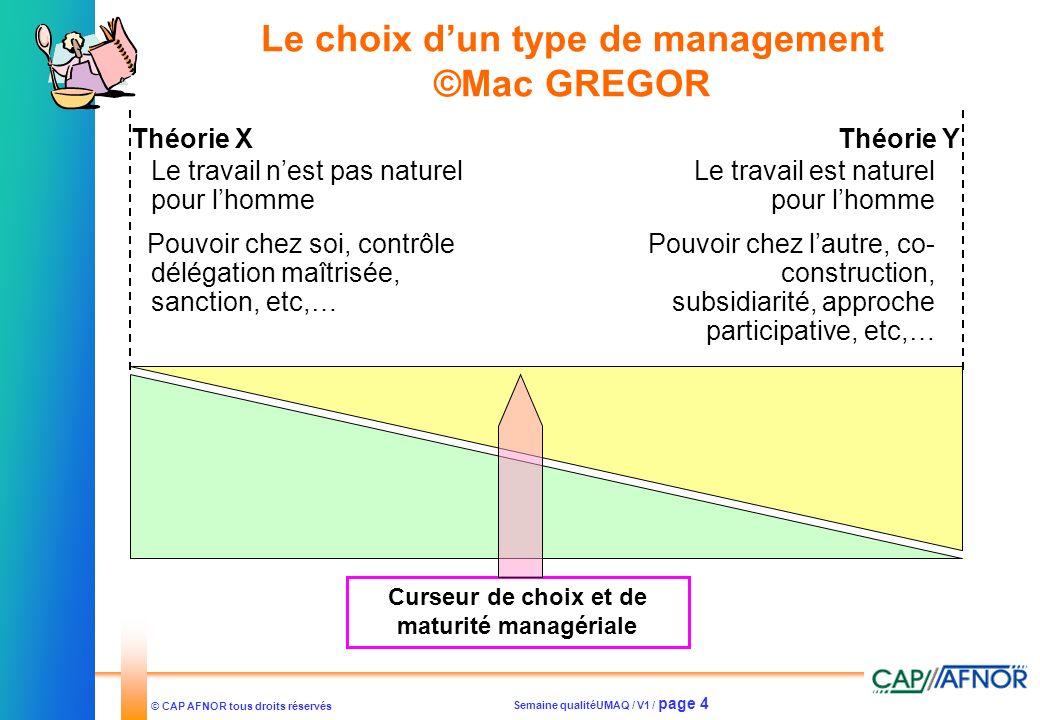 Le choix d'un type de management ©Mac GREGOR
