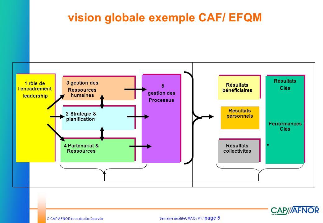 vision globale exemple CAF/ EFQM