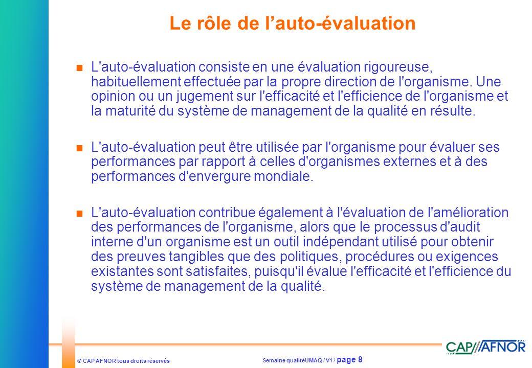 Le rôle de l'auto-évaluation