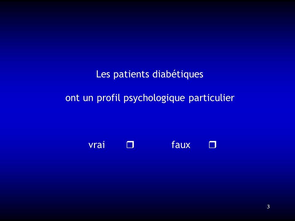 Les patients diabétiques ont un profil psychologique particulier