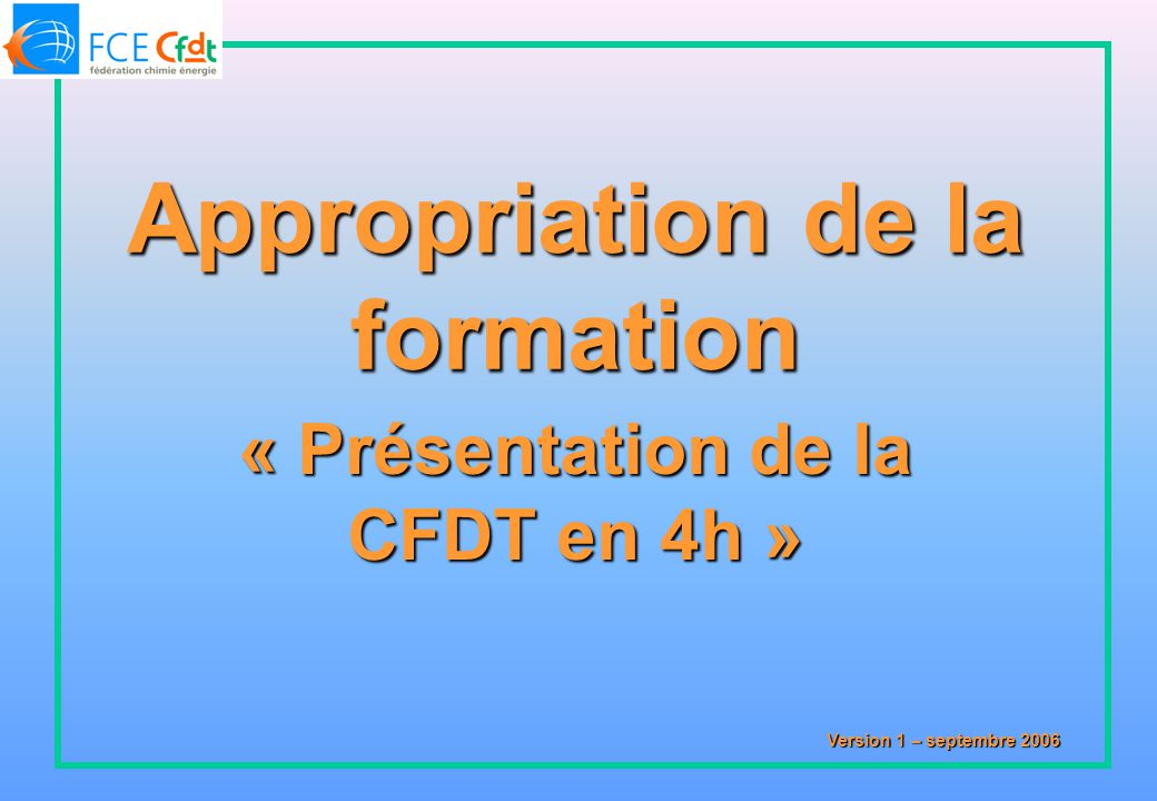 Appropriation de la formation