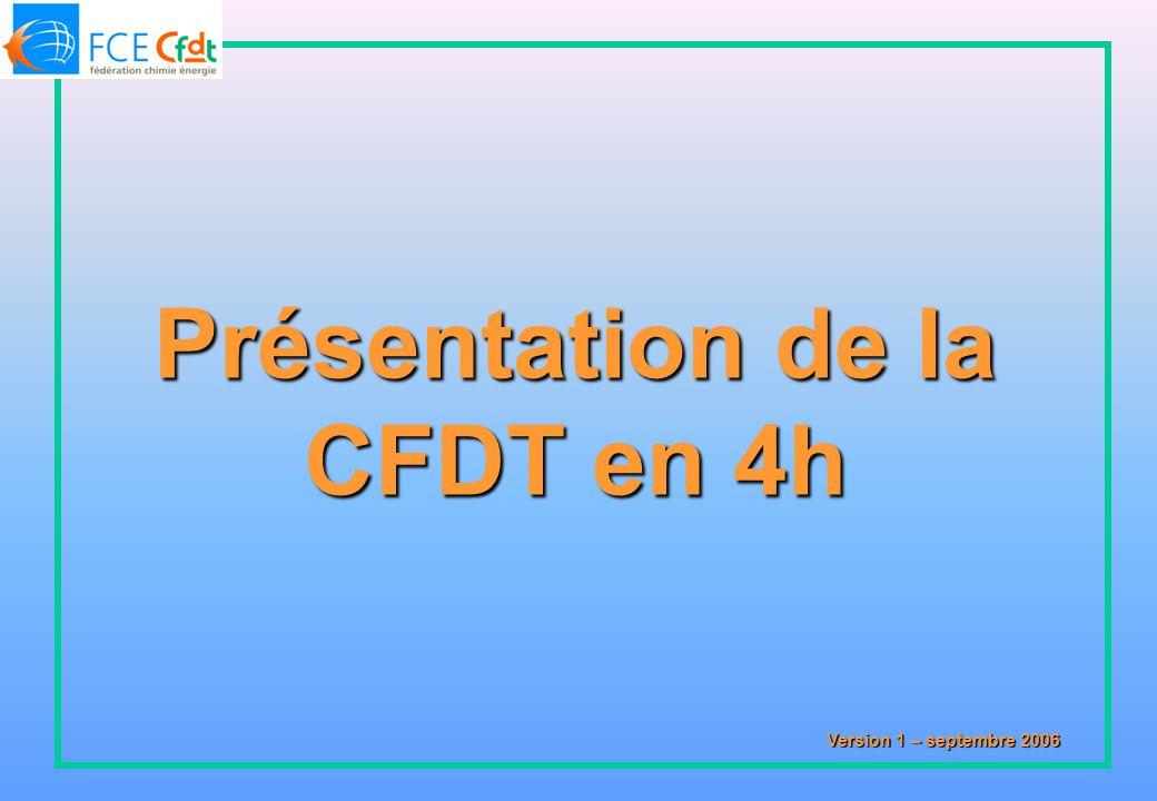 Présentation de la CFDT en 4h