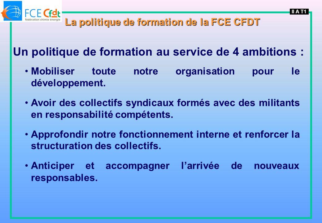 La politique de formation de la FCE CFDT