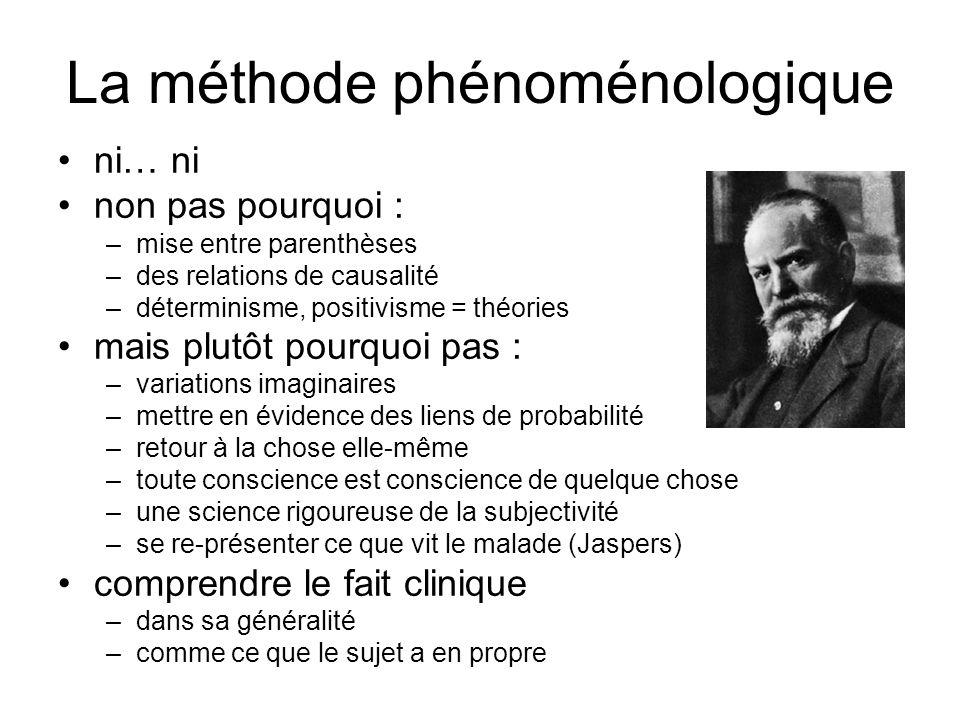 La méthode phénoménologique