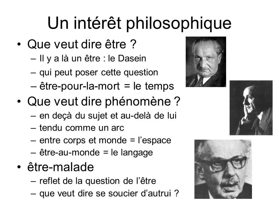 Un intérêt philosophique