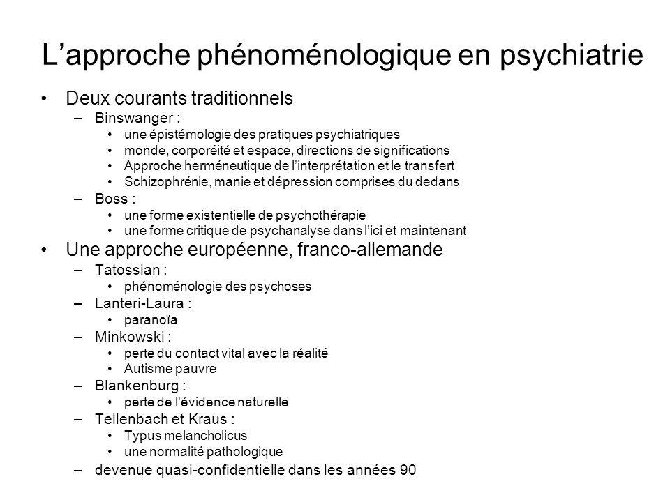 L'approche phénoménologique en psychiatrie