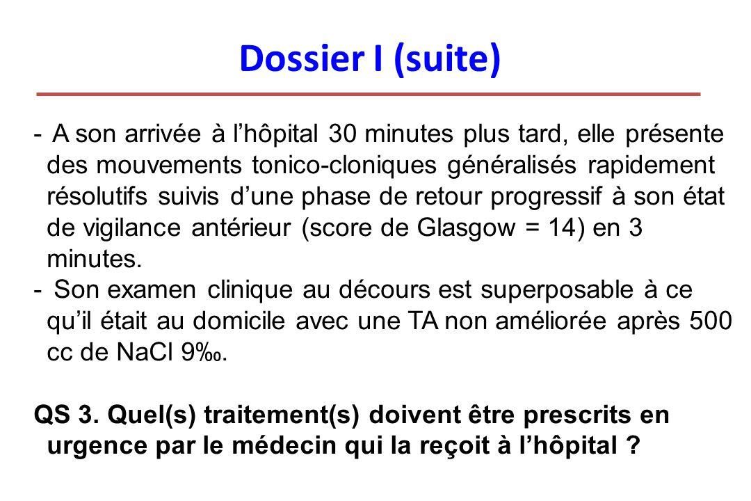 Dossier I (suite)