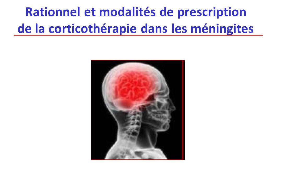 Rationnel et modalités de prescription de la corticothérapie dans les méningites