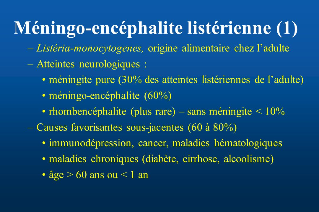Méningo-encéphalite listérienne (1)
