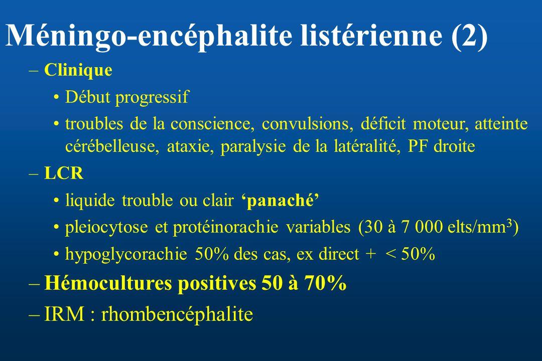 Méningo-encéphalite listérienne (2)