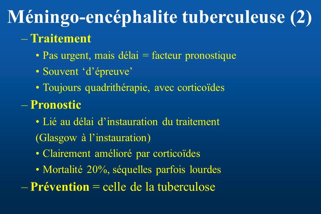Méningo-encéphalite tuberculeuse (2)