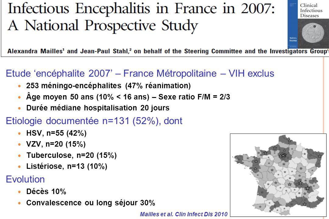 Etude 'encéphalite 2007' – France Métropolitaine – VIH exclus