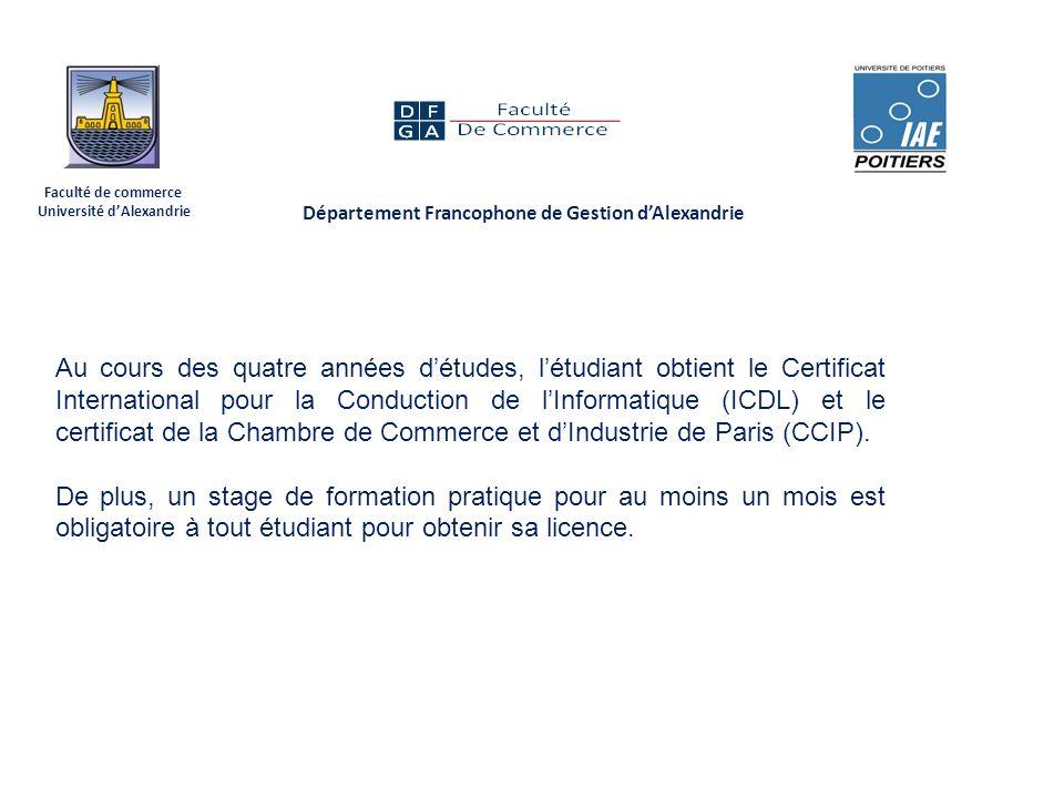 D partement francophone de gestion d alexandrie ppt for Chambre de commerce de paris formation