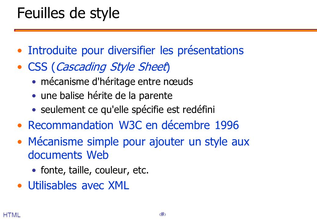 Feuilles de style Introduite pour diversifier les présentations