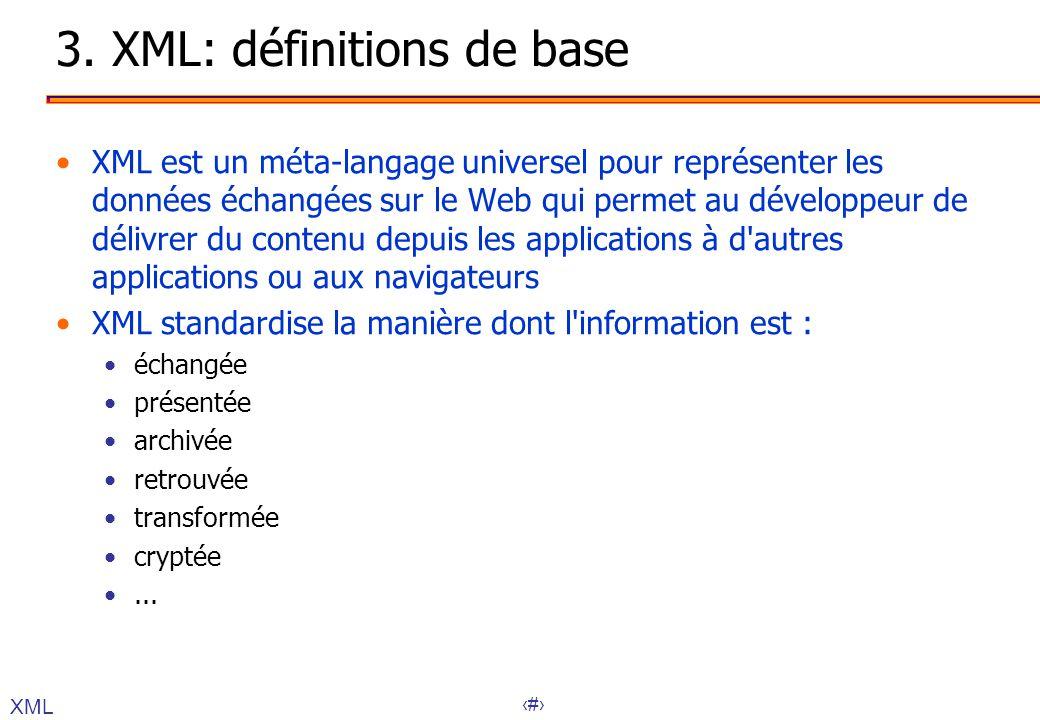 3. XML: définitions de base