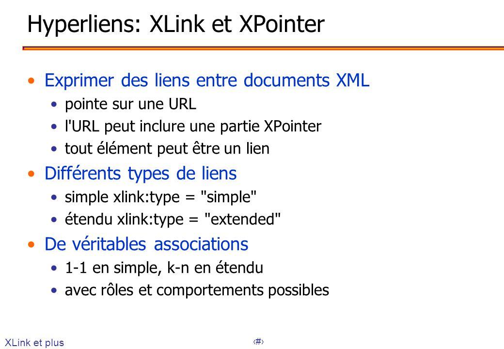 Hyperliens: XLink et XPointer