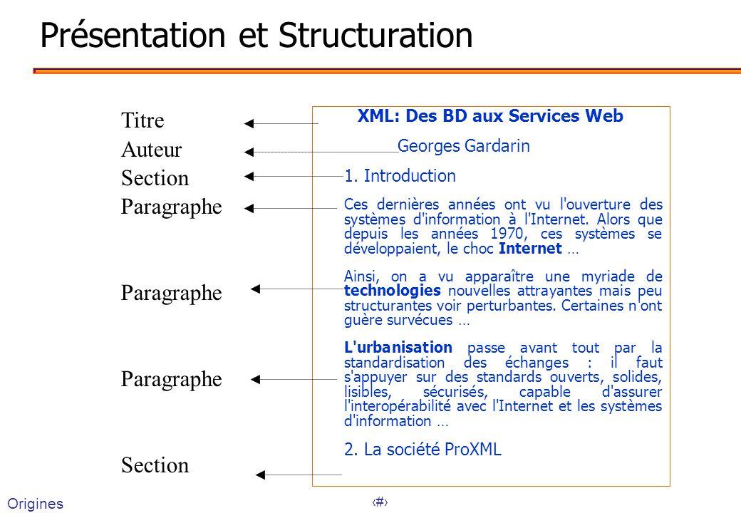 Présentation et Structuration