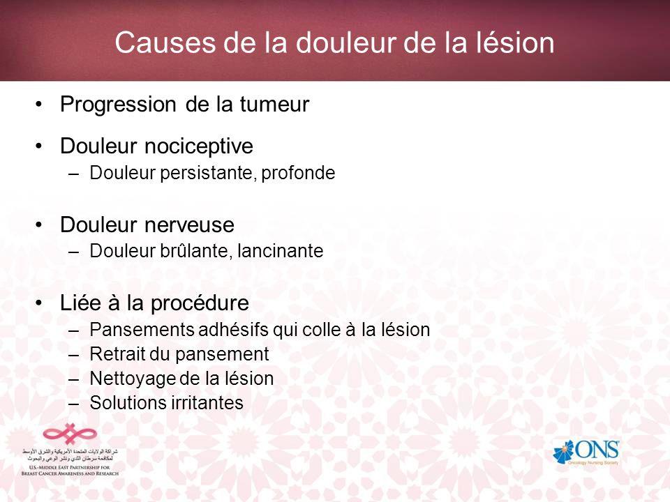 Causes de la douleur de la lésion