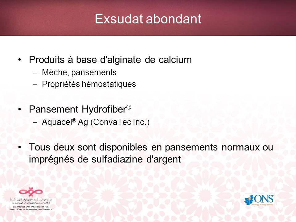 Exsudat abondant Produits à base d alginate de calcium