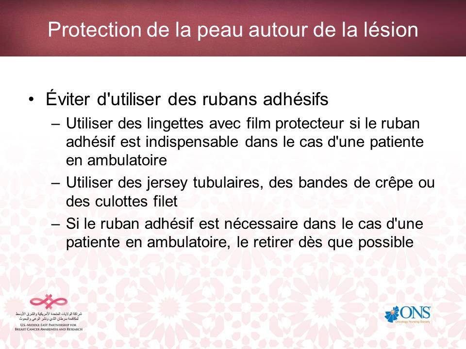 Protection de la peau autour de la lésion