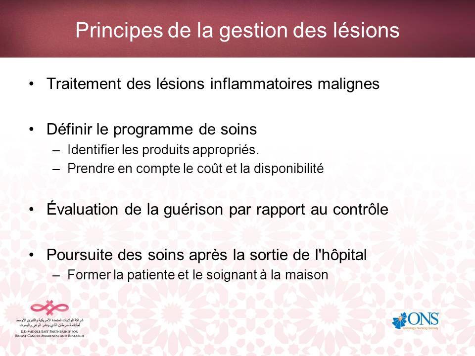 Principes de la gestion des lésions