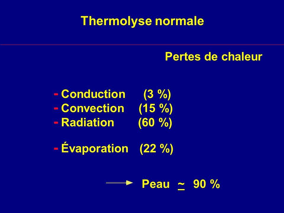 - - - - Thermolyse normale Pertes de chaleur Conduction (3 %)