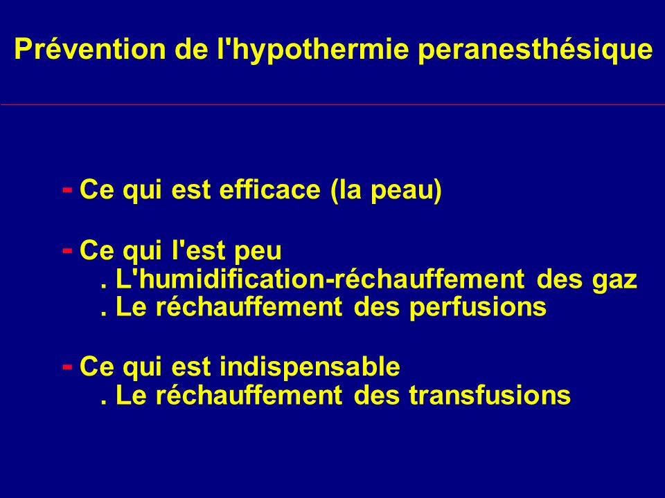 Prévention de l hypothermie peranesthésique