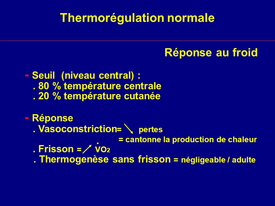 Thermorégulation normale