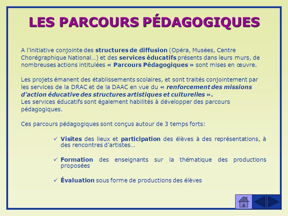 LES PARCOURS PÉDAGOGIQUES