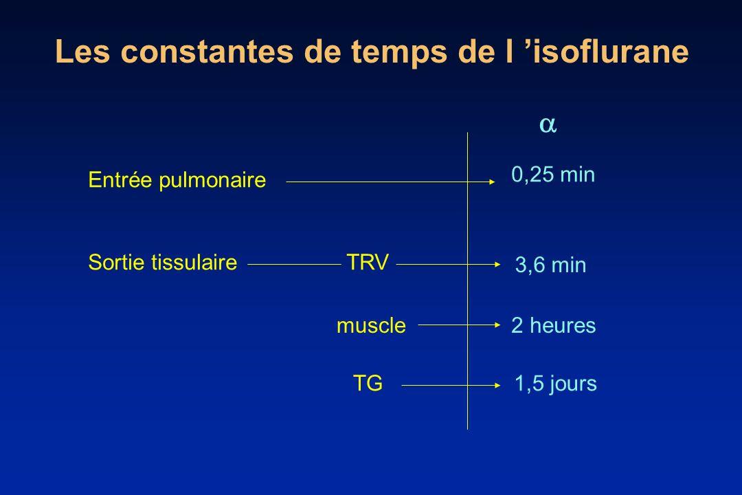 Les constantes de temps de l 'isoflurane