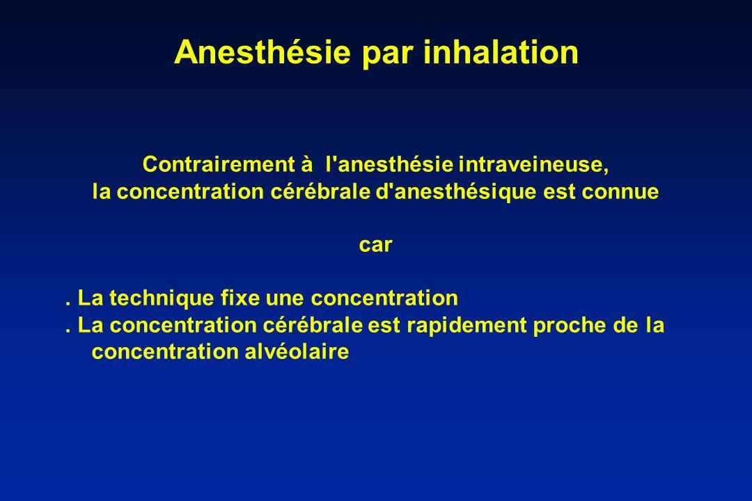 Anesthésie par inhalation