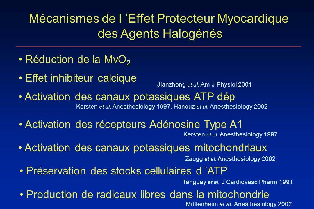 Mécanismes de l 'Effet Protecteur Myocardique