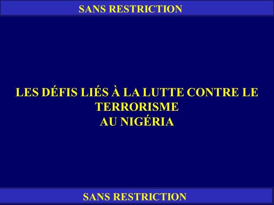 LES DÉFIS LIÉS À LA LUTTE CONTRE LE TERRORISME