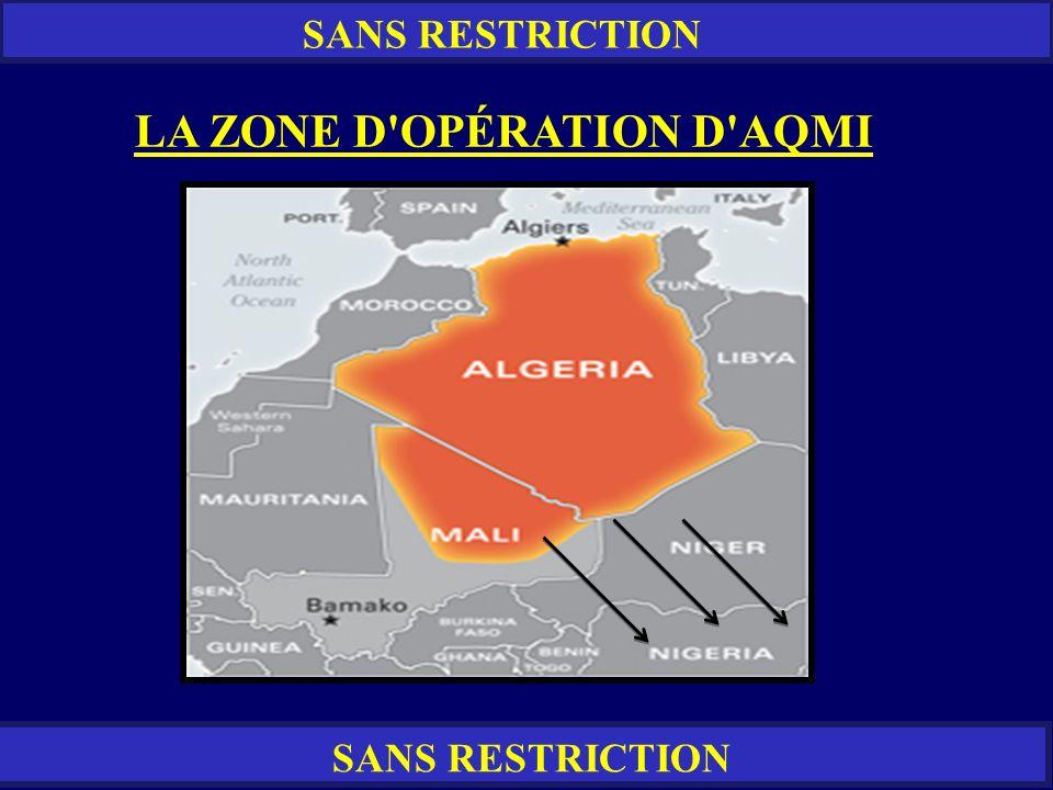 LA ZONE D OPÉRATION D AQMI